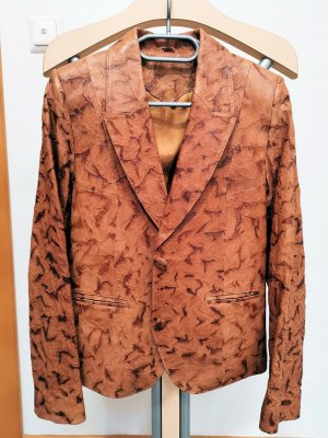 Leather Blazer brown-bronze-colored leather