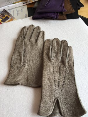 Leather Gloves grey leather