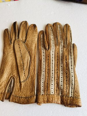Leather Gloves light brown-beige leather