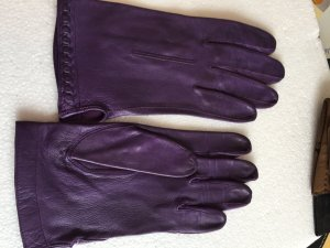 Leather Gloves lilac leather
