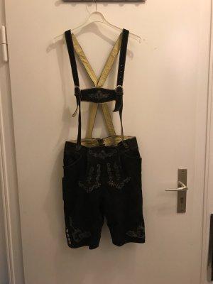 Almsach Pantalon traditionnel en cuir brun foncé