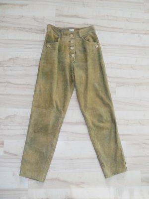 Distler Pantalone in pelle tradizionale marrone chiaro