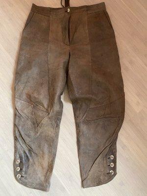 Country Line Tradycyjne skórzane spodnie jasnobrązowy