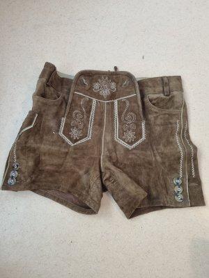 Esmara Pantalon traditionnel en cuir marron clair-brun