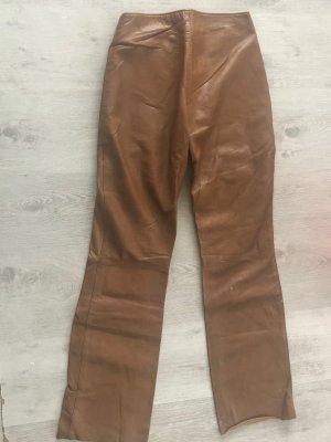 Vera Pelle Pantalón de cuero marrón claro