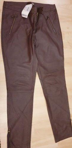 Orsay Pantalon en cuir bronze cuir