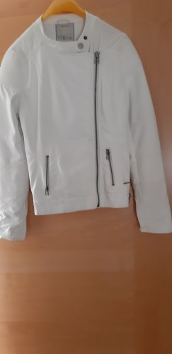 17&co Faux Leather Jacket white