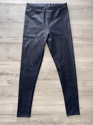 Pantalón de cuero azul oscuro