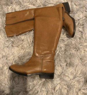 Platform Boots cognac-coloured