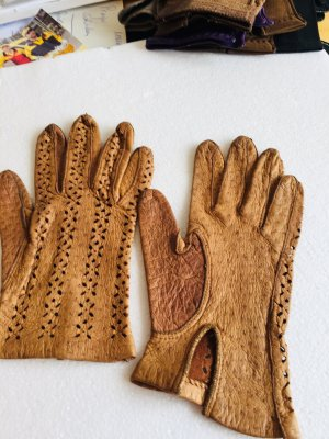 Leather Gloves camel leather