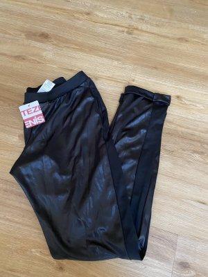 Calzedonia Skórzane spodnie czarny