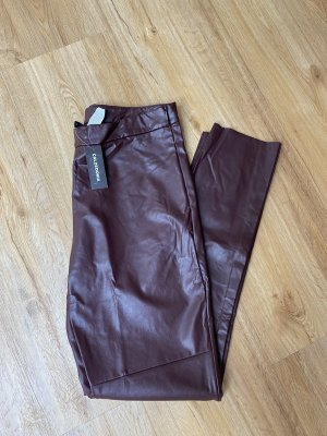 Calzedonia Faux Leather Trousers bordeaux