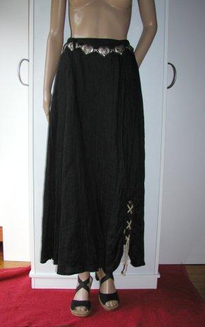 Falda folclórica negro Lino
