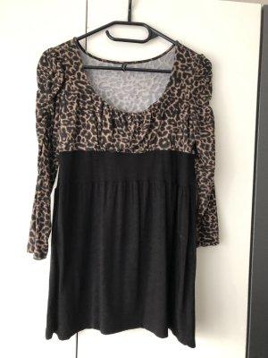 Amisu Camisa larga negro-marrón