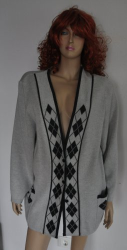 .12 puntododici Long Jacket silver-colored-black mohair