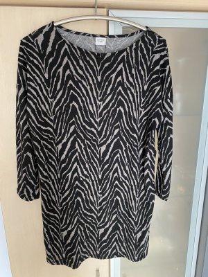 Damen Long Pullover Kleid Gr S 36 Schwarz Grau Jacqueline De Yong Neu m.Etikett