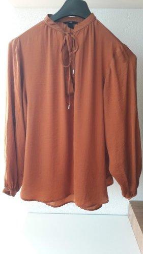 Anna Glover × H&M Bluzka z długim rękawem rudy Poliester