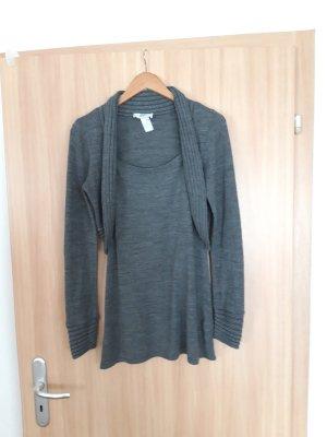 Damen Longshirt Kleid grau Bonprix Größe S
