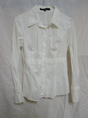 Damen Mädchen Bluse von Hallhuber Gr. 36 weiß