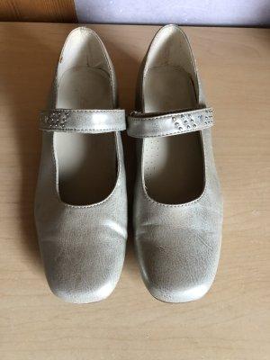 Damen Mädchen schicke Schuhe mit Absatz Silber 35