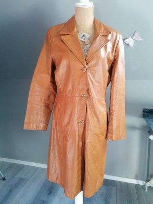 Springfield Leather Coat cognac-coloured
