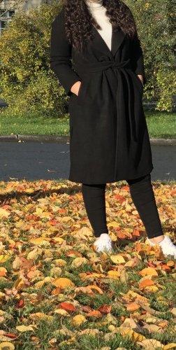 Zara Marynarski płaszcz czarny