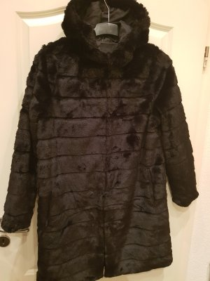 Amisu Geklede jurk zwart-antraciet