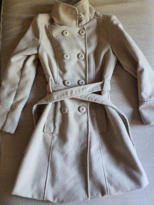 Made in Italy Marynarski płaszcz jasnobeżowy Wiskoza
