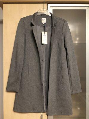 Damen Mantel Jacke Only Gr S 36 Grau Neu mit Etikett NP€ 49,95