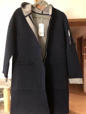 Tom Tailor Hooded Coat dark blue