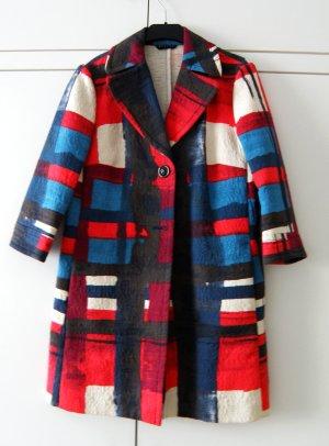 Sisley Krótki płaszcz Wielokolorowy Bawełna