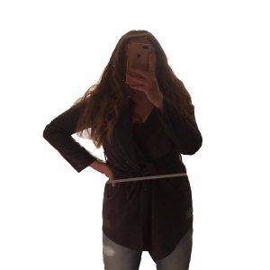 Damen Mantel Wollmantel grau zum Binden Gr.S/M