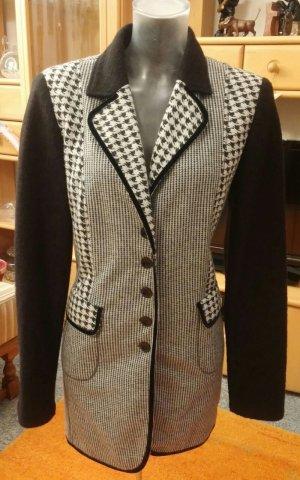 Kirsten Redingote noir-blanc laine