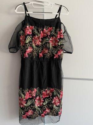 Damen Midi-Kleid Cocktailkleid mit Stickerei von 101 Idees Gr.S/M