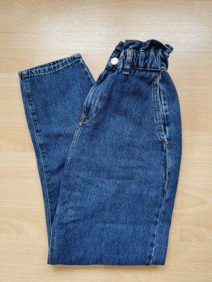 Damen Mom Jeans Boyfriend Jeans Zara blue High Waist