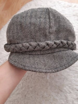 Cappello in tessuto grigio-grigio chiaro