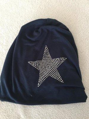 Cappello in tessuto blu fiordaliso