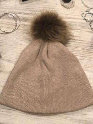 Knitted Hat nude-silver-colored