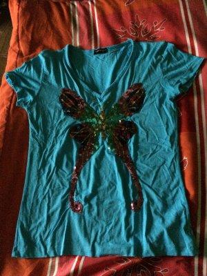 Armani T-shirt korenblauw