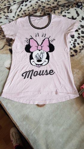 Disney T-shirt w kolorze różowego złota