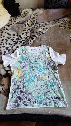 Fabiani T-Shirt natural white-light blue