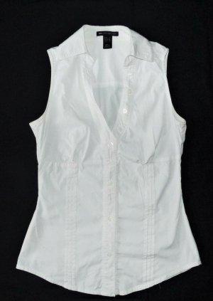 Damen Oberteil ärmellose Bluse von MNG Gr. S / 36 / 38 weiß TOP Tanktop Weste Shirt