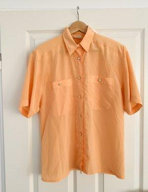 Damen Oberteil/ Bluse/ Hemd/ vintage kurzärmlig Gr.38/ M