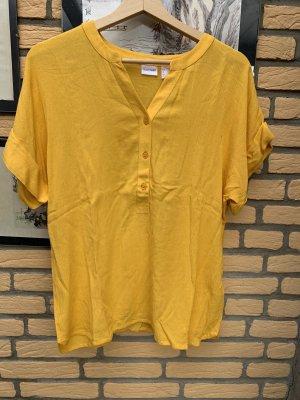 Damen Oberteil Bluse Shirt Gr 38 Gelb