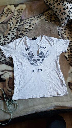 SMOG T-shirt bianco-nero