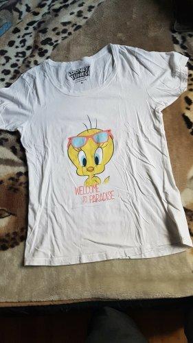 Looney Tunes Camiseta blanco puro
