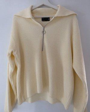 Asos Długi sweter kremowy