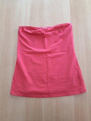 Damen Oberteil schulterfrei rosa Amisu Größe S