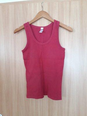 His T-shirt rosso mattone Tessuto misto