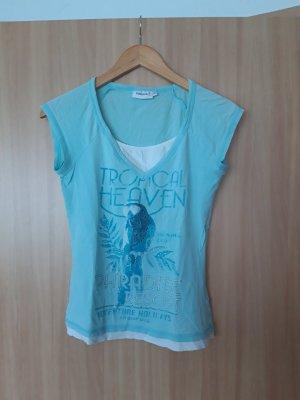 Damen Oberteil T-Shirt Yessica hellblau Größe S